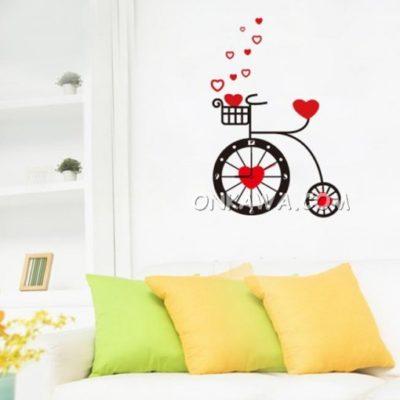 Vinilo reloj Bicicleta