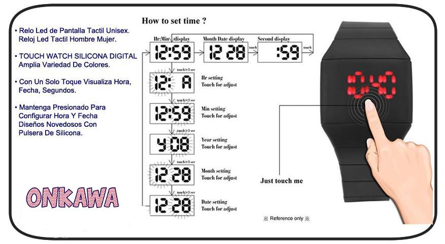 reloj-silicona-touch-manual-uso