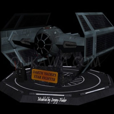 Papercraft tie fighter