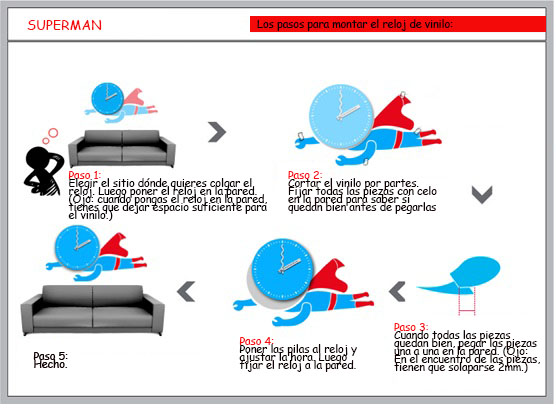 vinilo-reloj-superman-colocación