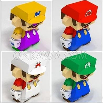 Papercraft Mario Bros
