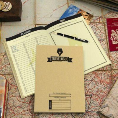 Diario de viaje Travelogue con mapas rasca
