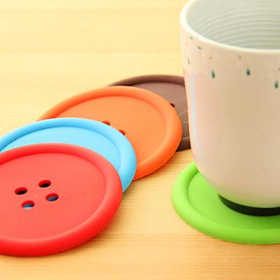 Posavasos de silicona Botón