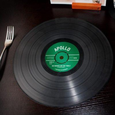 manteles discos de vinilo