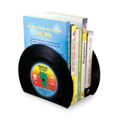 sujeta libros discos de vinilo