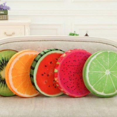cojines frutas